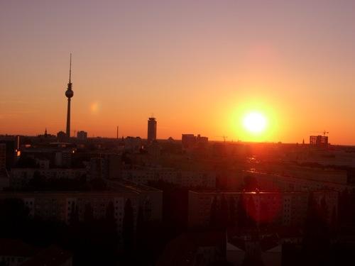 Sonnenuntergang über Berlin Mitte