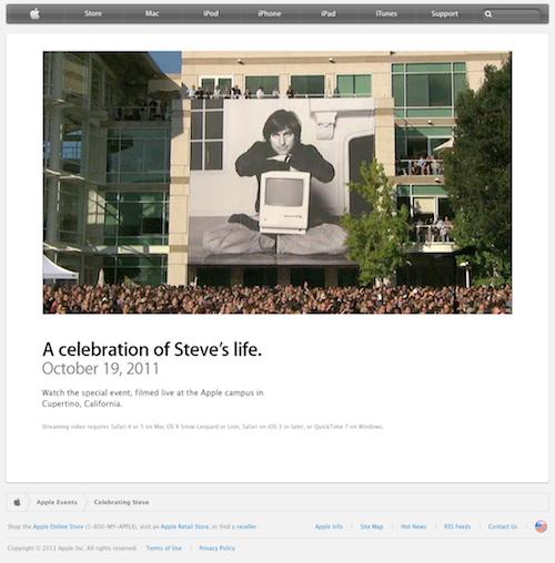 Trauerfeier zu Ehren Steve Jobs in Cupertino