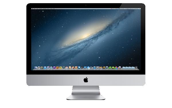 Aufgeräumter Mac OS X Schreibtsich
