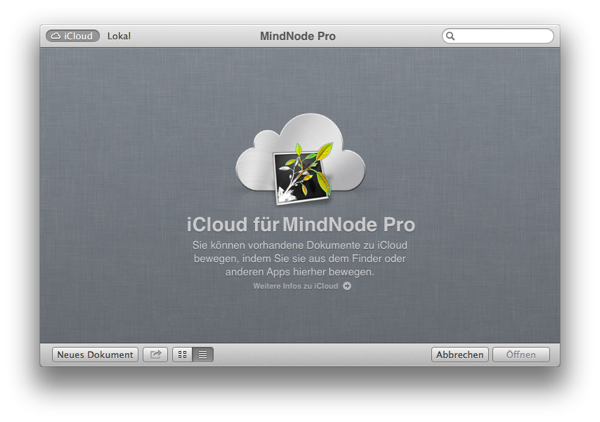 MindNode pro mit iCloud Unterstützung