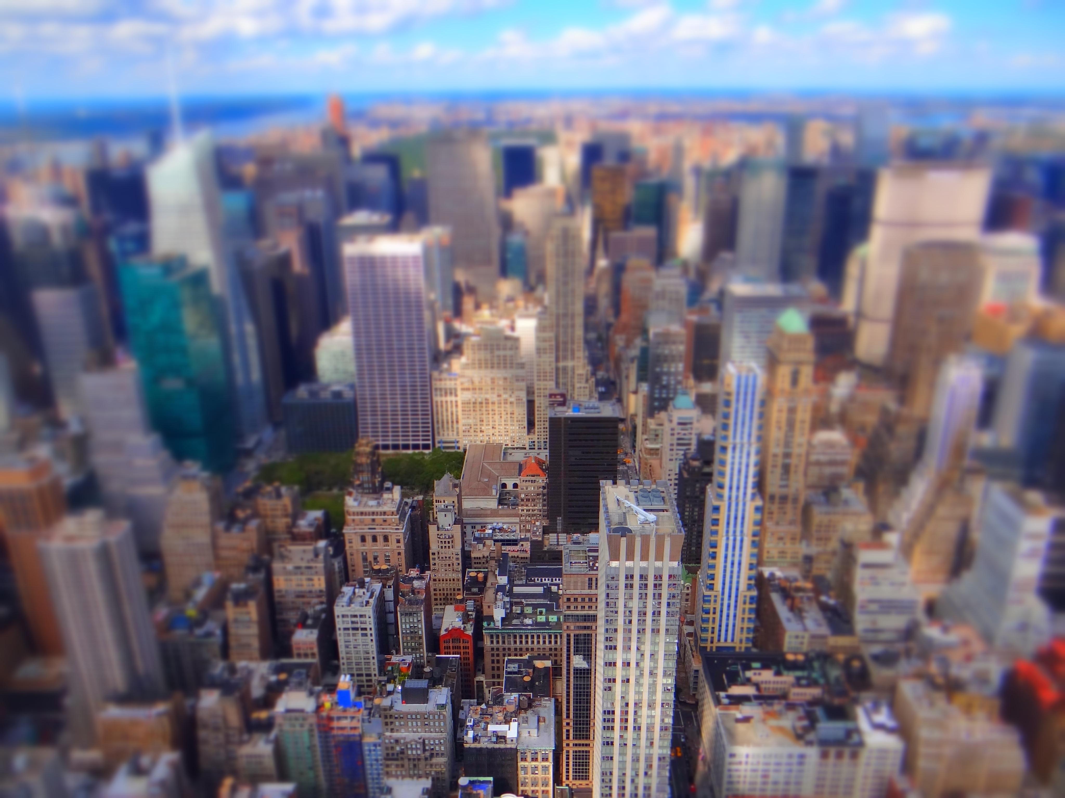 Blick Richtung Nord Manhattan und Central Park