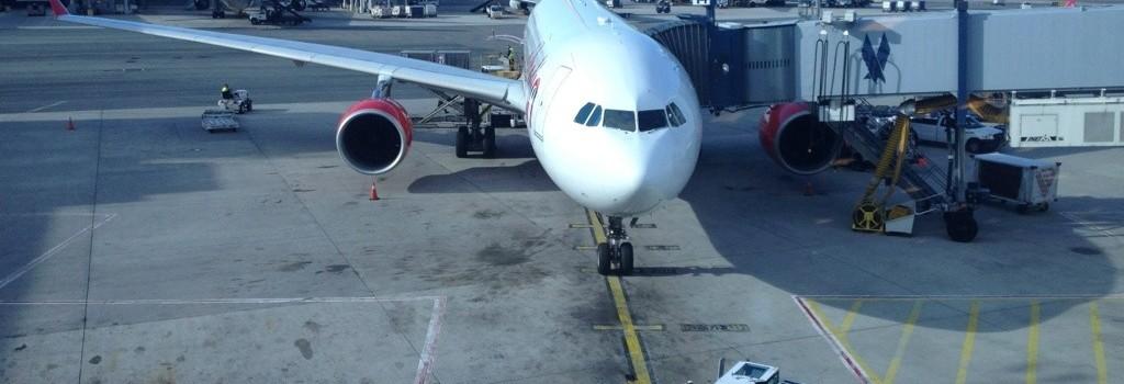 Flugzeug am AirPort JFK in New York