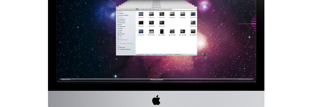 Apple Time Machine auf dem iMac