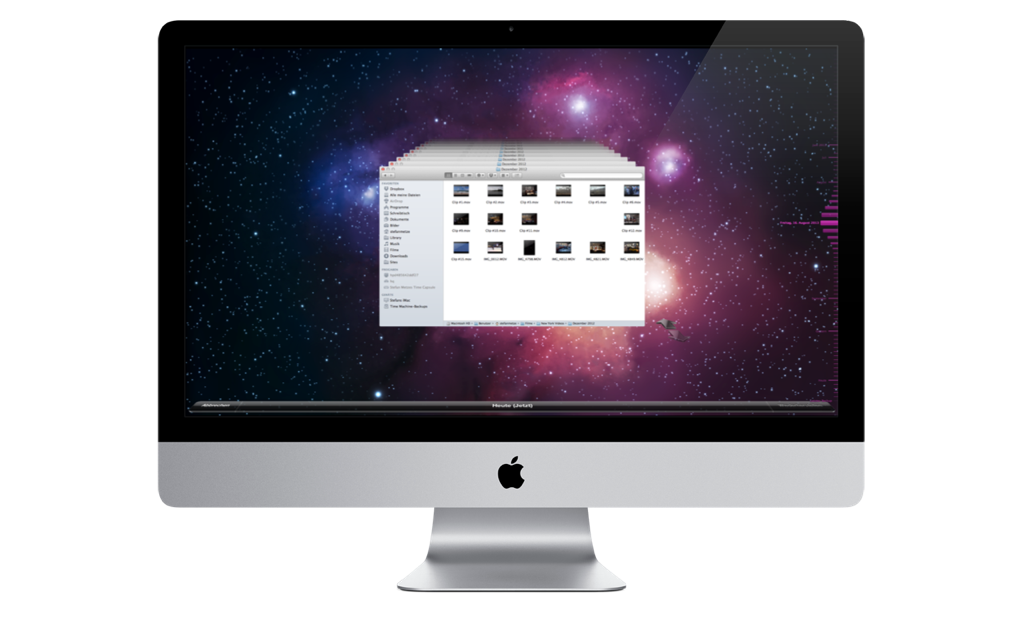 Apple Time Machine auf dem iMac