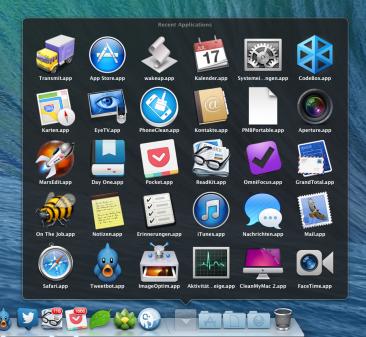 Zuletzt benutzte Apps auf dem Mac