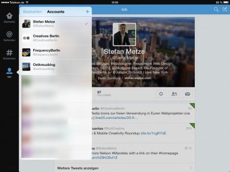 Die Twitter iPad App