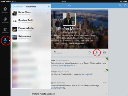 Twitter App für iPad