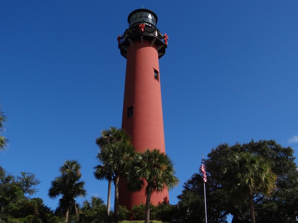 Jupiter Lighthouse Weihnachtlich geschmückt