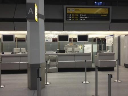 Viel zu früh am Flughafen in Tegel