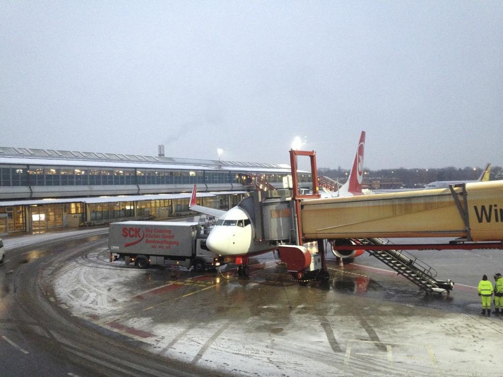 Leichter Schneefall in Tegel
