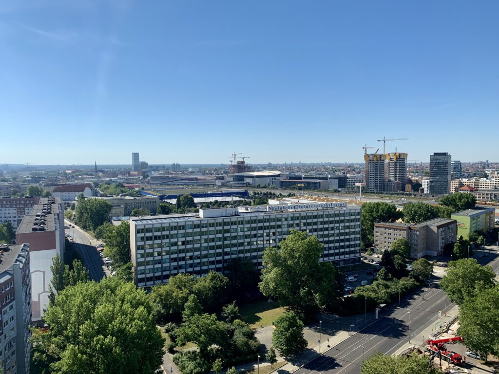 Berlin Friedrichshain Mediaspree Skyline