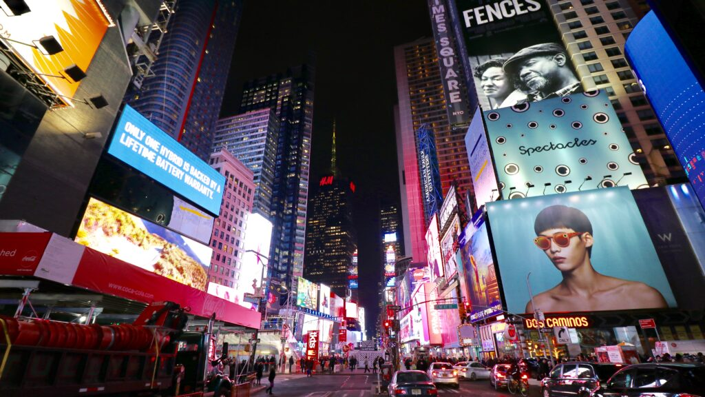 New York City Times Square bei Nacht
